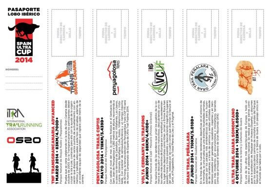 Spain Ultra Cup: The Iberian Wolf passport, for every runner to seal race by race.